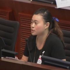 香港保護兒童會蝴蝶邨幼兒學校教師出席立法會公聽會(2015/07/04)