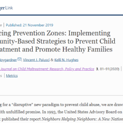 研究資訊:增加預防區域:實施社區為本策略,以防止虐待兒童及促進家庭健康