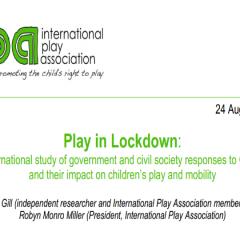 研究資訊:城市封鎖時的玩樂:一項國際研究有關政府及社會對Covid-19的反應及其對兒童玩樂和活動的影響